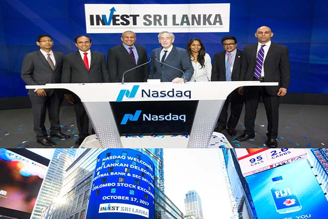 Sri Lanka's CSE hosted at NASDAQ at market site