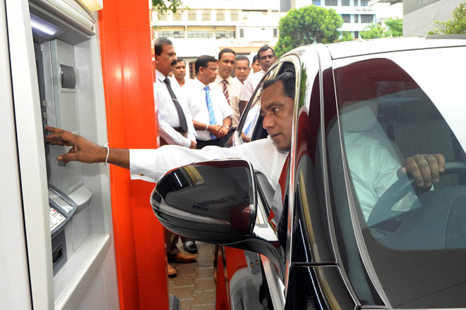 Sampath Bank unveils drive-through ATM at Colombo Super Branch