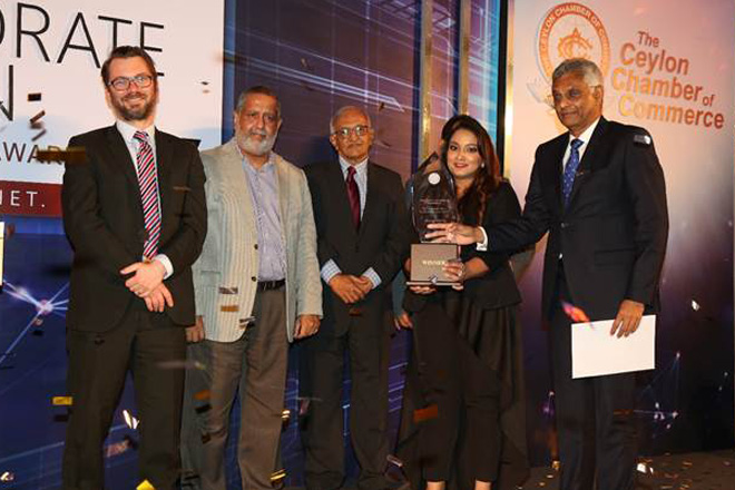 Aitken Spence bags Best Corporate Citizen Sustainability Award 2017