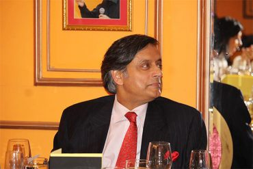 Dinner event with politician and diplomat Shashi Tharoor