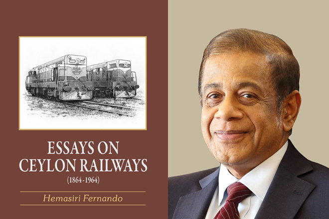 Hemasiri Fernando's new book on Ceylon Railways launched