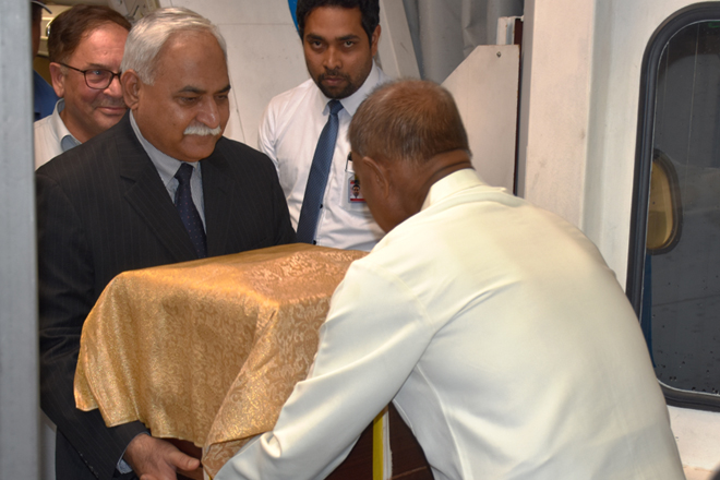 Lord Buddha's Sacred Relics from Pakistan arrived in Sri Lanka