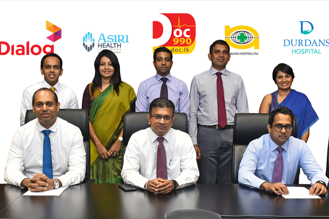 Nawaloka & Durdans join Asiri in DOC990 Joint Venture with Dialog
