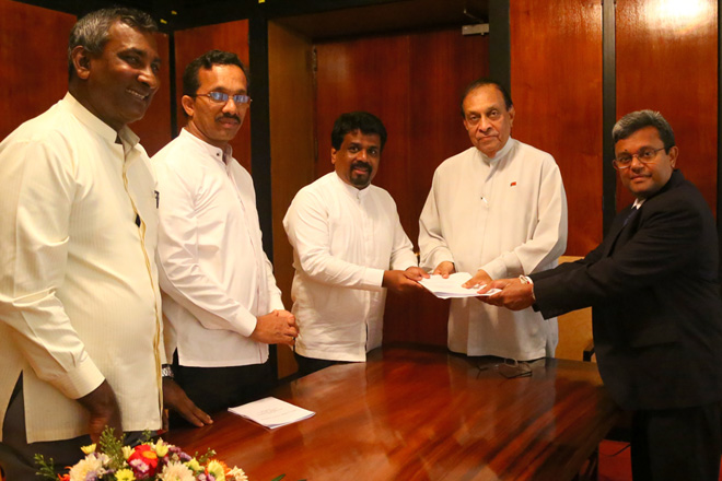JVP hands over draft proposal of 20th amendment to the Constitution to Speaker