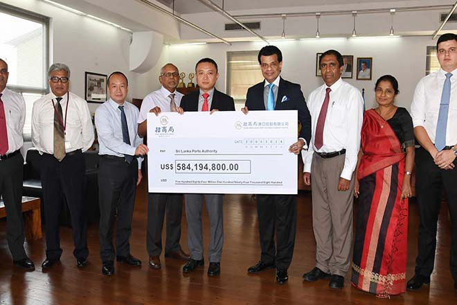 CM Port pays final tranche of USD584Mn for Hambantota Port