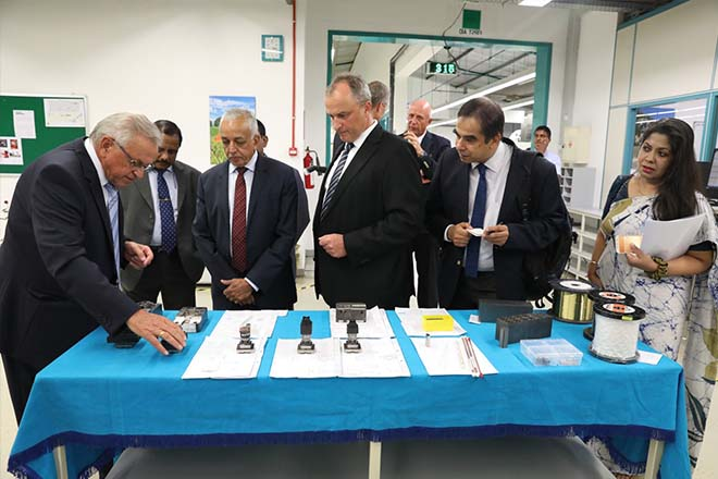 Malik visits German Engineering Company at Katunayake BOI