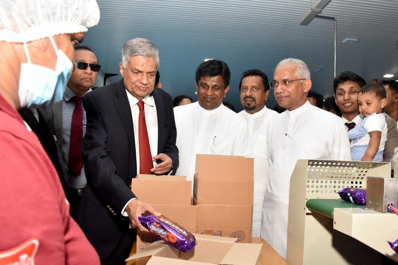 Uswatte opens state-of-the-art biscuit factory in Millaniya