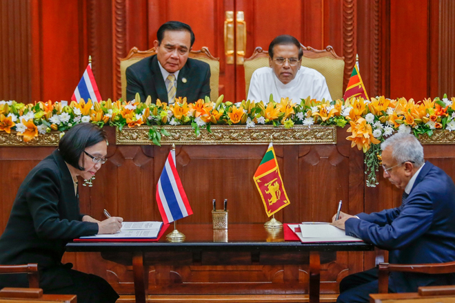 Thai-Sri Lanka FTA talks launched; USD1.5bn mutual trade expected by 2020