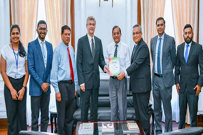 Unilever and UNDP handover PPP policy paper to President's secretary