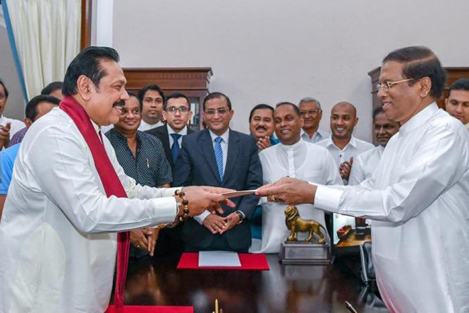 Former President Mahinda Rajapaksa sworn in as Prime Minister of Sri Lanka