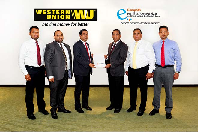 Western Union & Sampath Bank offer international money transfer services in Sri Lanka