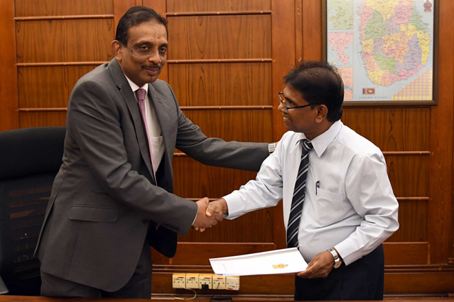 S R Attygalle assumes duties as new Secretary to Finance Ministry