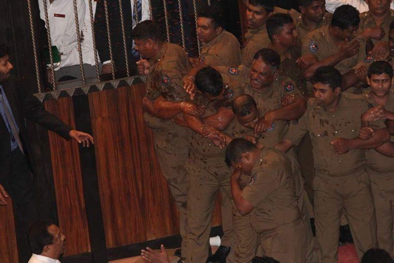Sri Lanka's noble Police – Iconic image of Sri Lanka's constitutional crisis