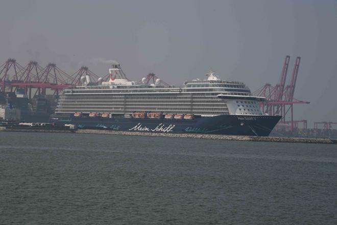Luxury vessel Mein Schif 3 calls Colombo Port with 2,430 passengers