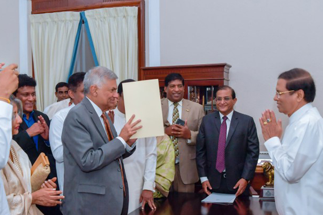 I appointed Ranil W as PM to respect parliamentary traditions: President