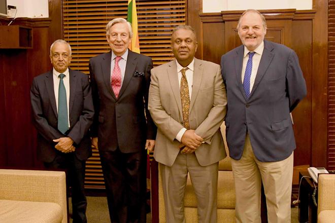 EU Parliamentarians meet Sri Lanka's Finance Minister