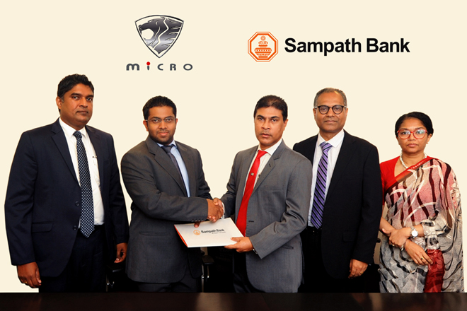 Sampath Bank and Micro Cars launch 3 month leasing promotion
