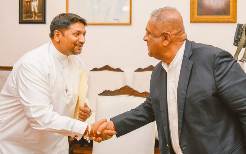 Ruwan Wijewardene sworn in as Sri Lanka's new Media Minister