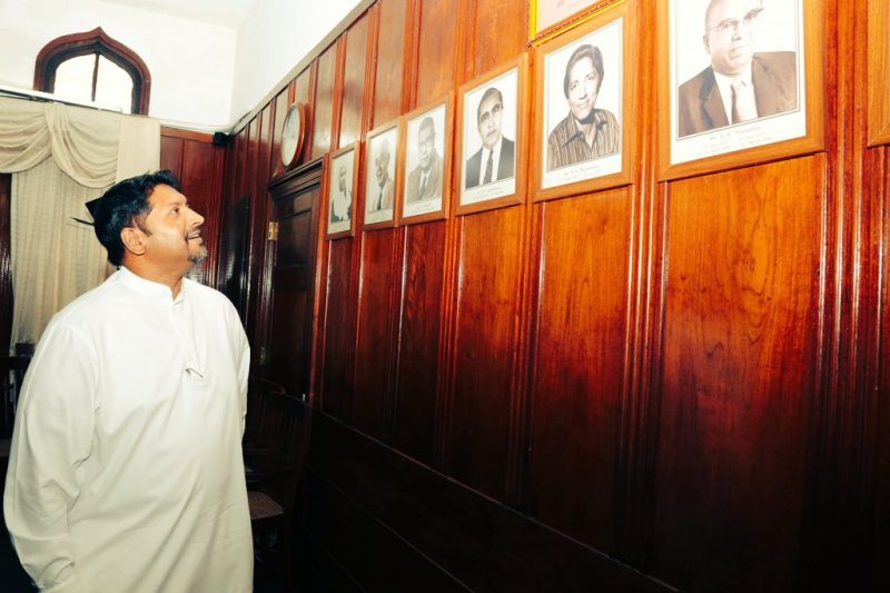 Coming home: Sri Lanka's new Media Minister Ruwan Wijewardene visits Lake House