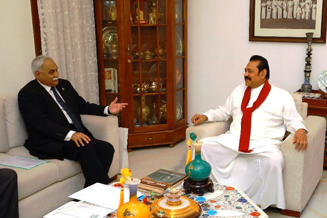 Pakistan High Commissioner meets Opposition Leader Mahinda Rajapaksa