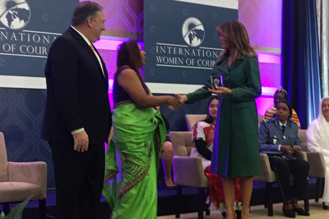 Sri Lankan Marini de Livera honored with Intl. Women of Courage Awards 2019