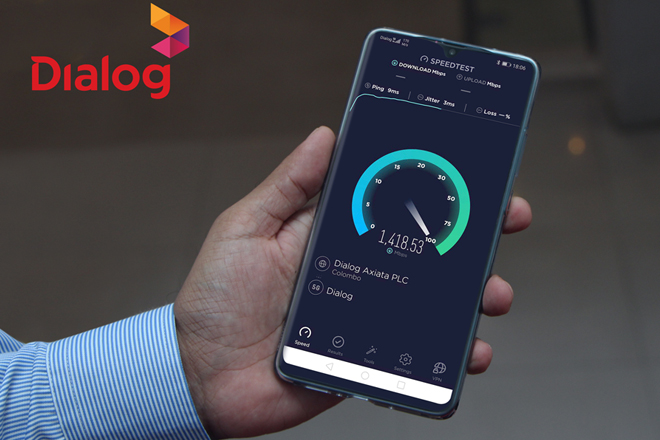 Dialog 5G Mobile Service shows South Asia's fastest mobile speeds in excess of 1.4Gbps