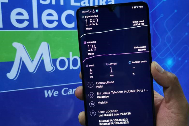 Ookla recognizes Mobitel as first Mobile 5G Network in South Asia with 1.55Gbps speed
