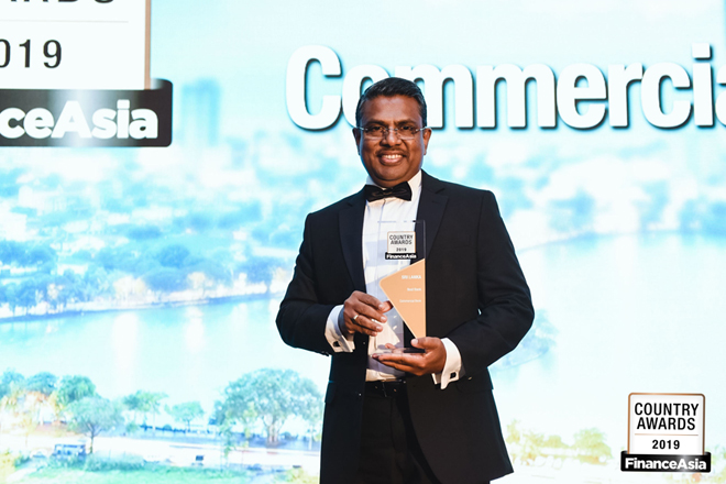 ComBank receives 'Best Bank in Sri Lanka' award for 9th time from FinanceAsia