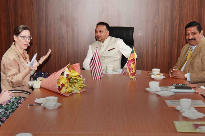 US Ambassador meets Plantation Industries Minister Navin Dissanayake