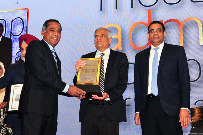 Sampath Bank ranks among Sri Lanka's 10 Most Admired Companies