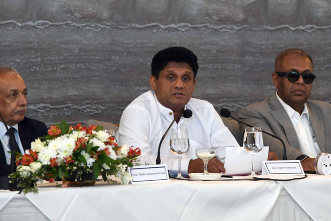 We will ensure that Sri Lanka meets its voluntary intl commitments: Sajith