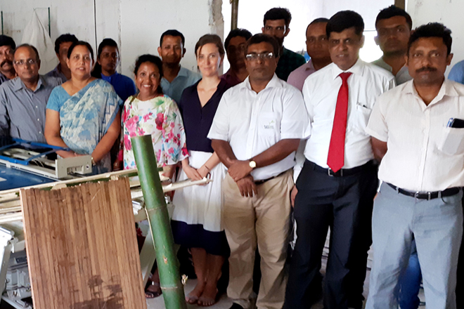 Sri Lanka gets first bamboo–to-timber board production line with UNIDO backing