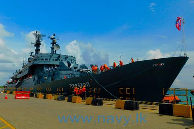 Russian Navy training ship arrives at port of Hambantota