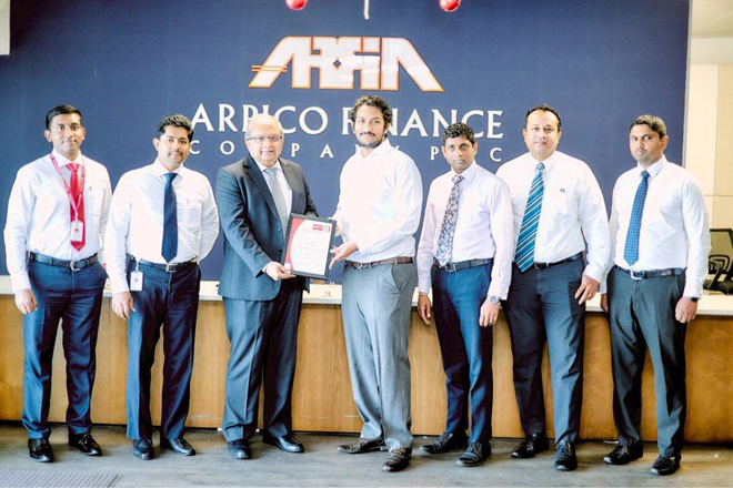 Arpico Finance receives ISO 27001:2013 certification for IT