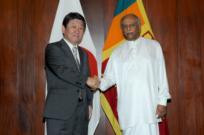 Japanese Foreign Minister reaffirms support to broaden cooperation with Sri Lanka