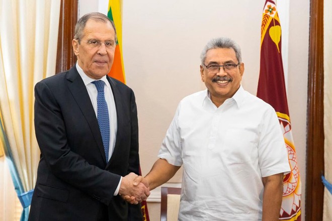 Russian Foreign Minister meets with Sri Lanka President