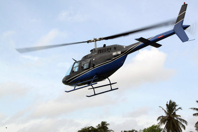 Domestic helicopter flights resume from Galle Face