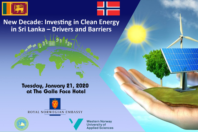 Norway to host panel discussion on clean energy investments in Sri Lanka