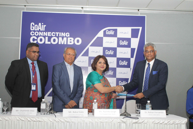 India's GoAir introduces direct flights from Colombo to Delhi, Bengaluru