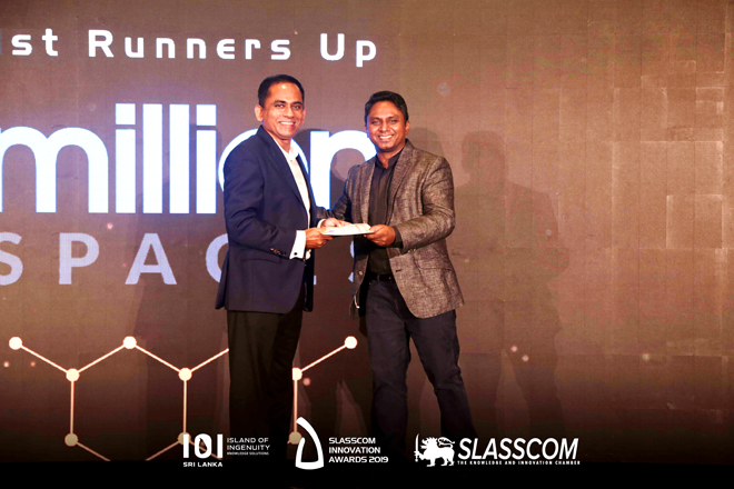 MillionSpaces takes centre-stage at SLASSCOM's Innovation Awards 2019