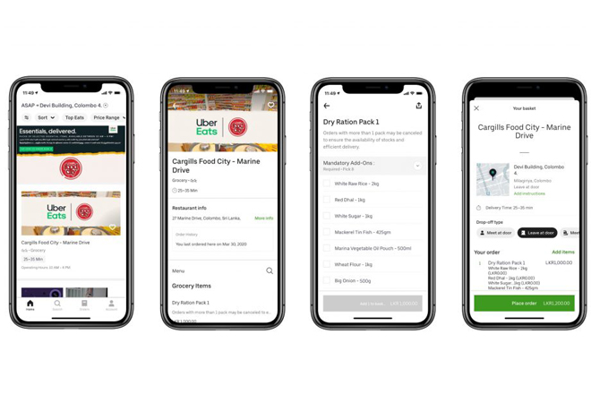 Sri Lankan government & Uber Eats partner to deliver essential supplies