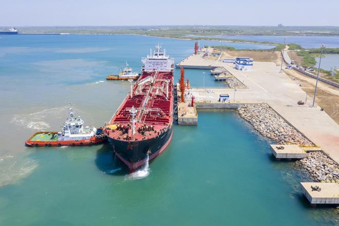 First bunkering ship discharges low sulphur fuel at Hambantota Intl. Port