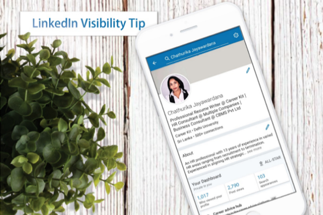 Tip to boost visibility of your LinkedIn profile