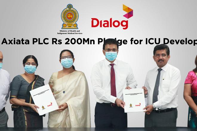Dialog Axiata pledges Rs. 200Mn for ICU capacity development