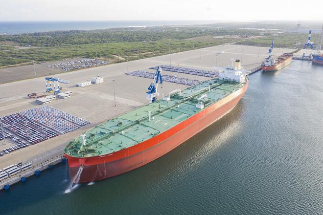 Crude oil tanker 'Marine Hope' largest vessel ever to call at Hambantota International Port