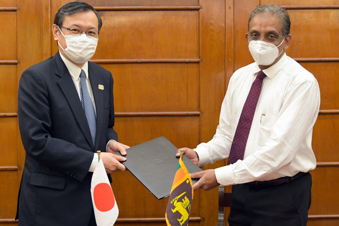 Rs. 1,360mn Japanese grant for provisioning medical equipment to combat against COVID-19