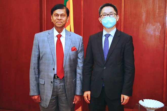 Acting Ambassador for China calls on State Minister Ajith Nivard Cabraal