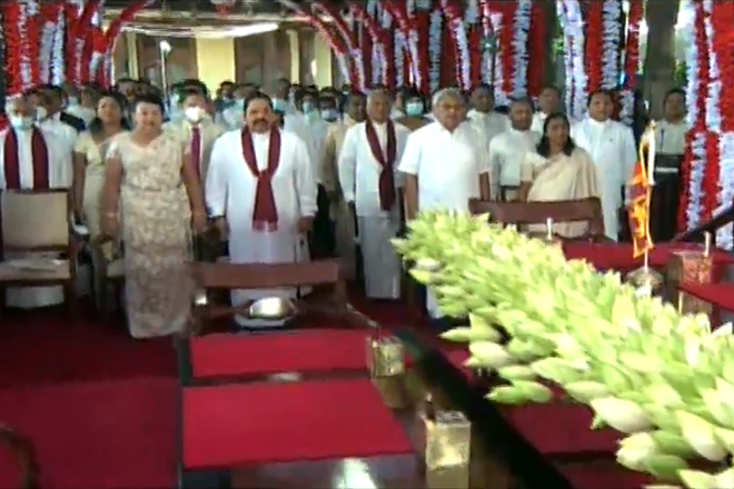 Swearing-in ceremony for Sri Lanka's new Cabinet