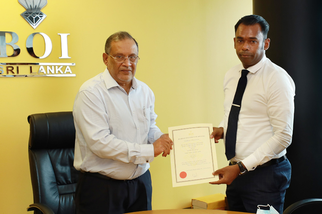 BOI signs agreement to set up a sea cucumber processing factory in Jaffna