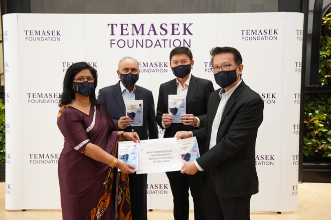 Singapore Temasek Foundation donates 1Mn face masks to Sri Lanka produced by MAS Holdings
